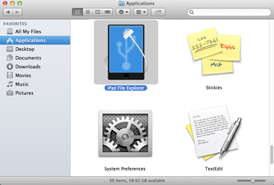 launch to run iPad File Explorer